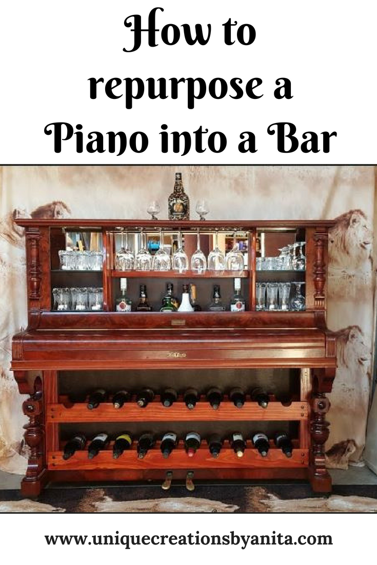 how to make an old piano into a desk