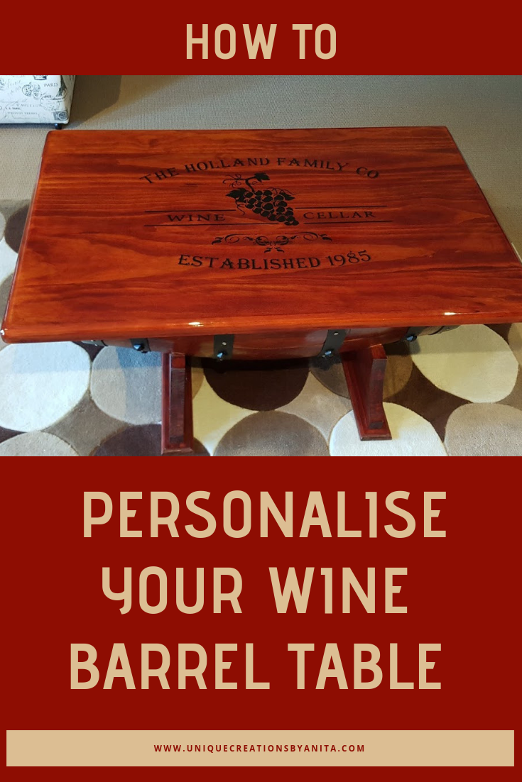 How To Make A Personalized Wine Barrel Table Unique