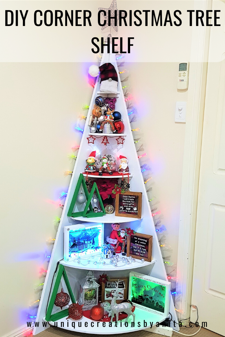 How To Make A Corner Christmas Tree Shelf Unique Creations By Anita