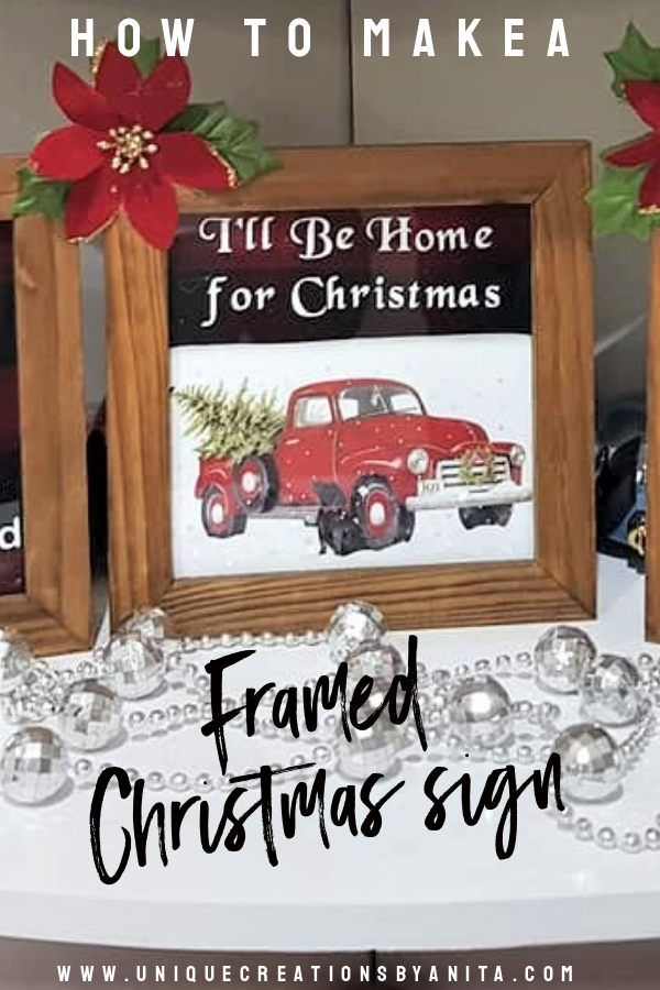 Framed Christmas Signs from Unique Creations by Anita