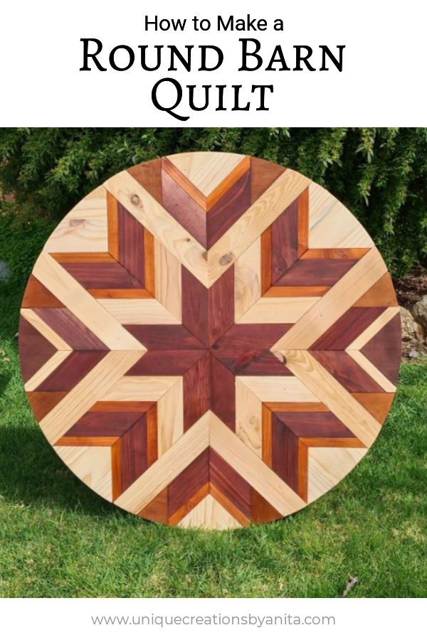 How to make a round barn quilt wall art.