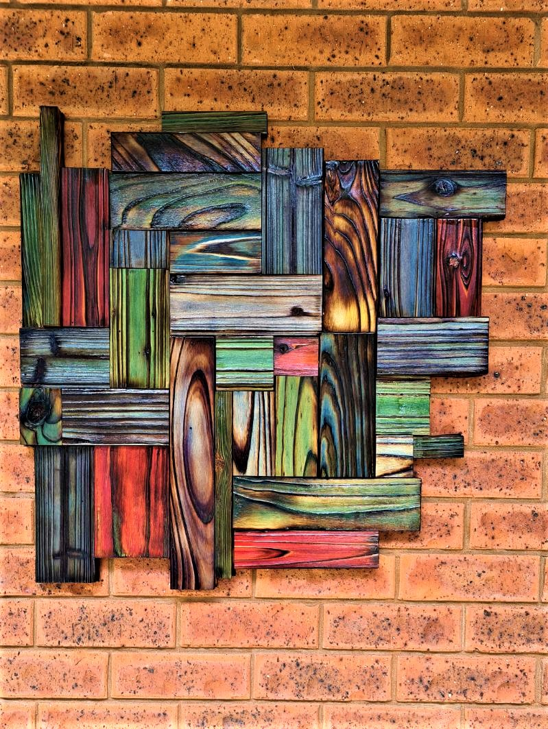 How to burn scrap wood and add colour to your wall hanging using Shou Sugi Ban.